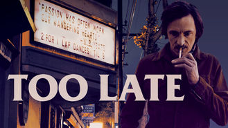 Netflix box art for Too Late
