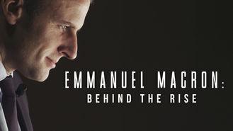 Netflix box art for Emmanuel Macron: Behind the Rise